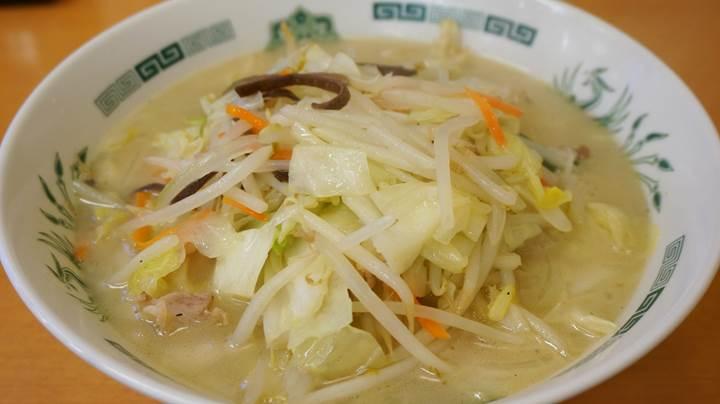 HIDAKAYA Vegetables Ramen 日高屋 野菜たっぷりタンメン