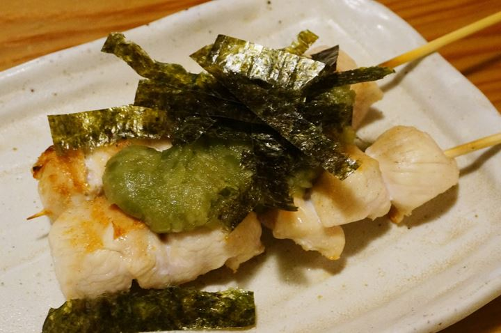 Torikizoku 鳥貴族 Chicken Breast Fillet with Wasabi ささみわさび焼